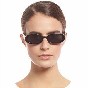 Le Specs Outta Love Black Oval Retro 90s Sunnies